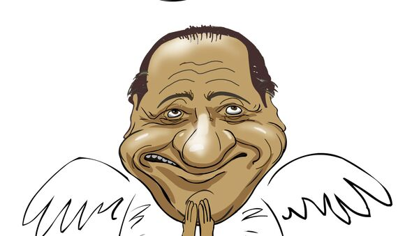 Silvio Berlusconi in una caricatura - Sputnik Italia