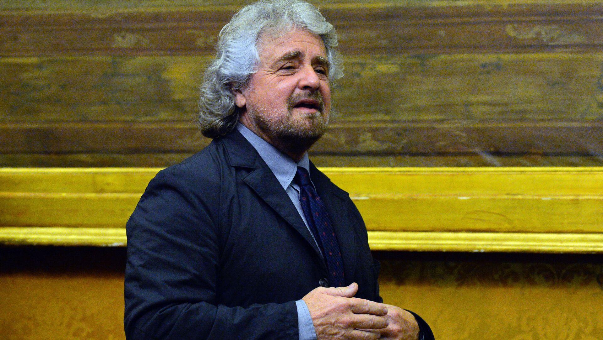 Il leader del Movemento 5 stelle Beppe Grillo - Sputnik Italia, 1920, 28.03.2021