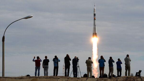 Il lancio della Soyuz TMA-18M con l'equippaggio della spedizione 45/46 dal cosmodromo di Bajkonur. - Sputnik Italia