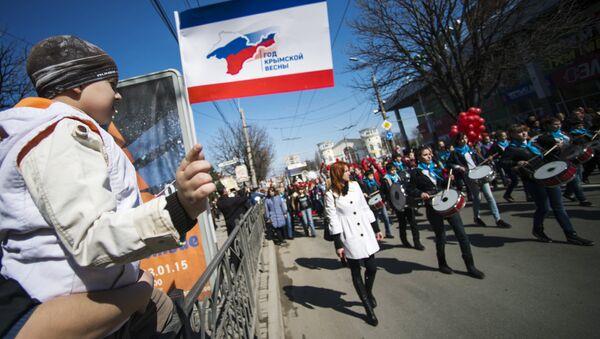 Crimea, Simferopoli festeggia un anno da citta russa - Sputnik Italia