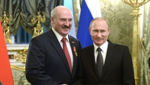 Presidenti della Russia e Bielorussia Vladimir Putin e Alexander Lukashenko - Sputnik Italia