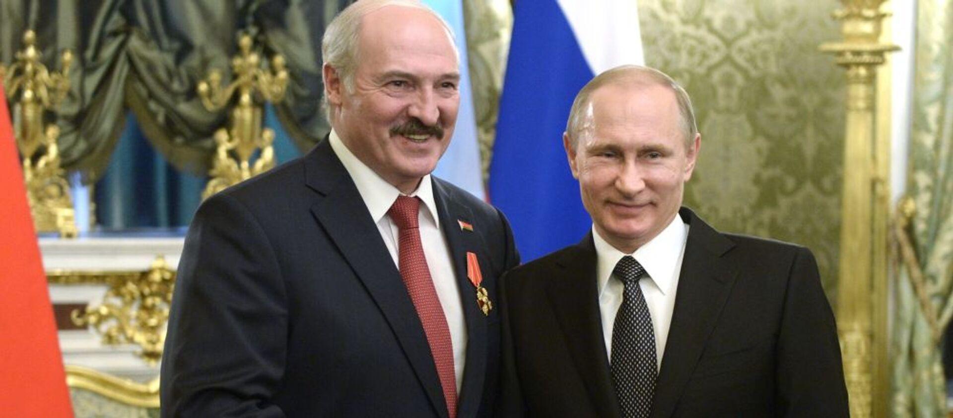 L'incontro tra i presidenti della Russia e Bielorussia Vladimir Putin e Alexander Lukashenko. - Sputnik Italia, 1920, 22.04.2021