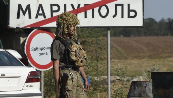 Soldato ucraino alla periferia di Mariupol - Sputnik Italia