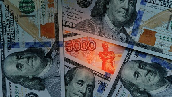 Dollari USA e rubli - Sputnik Italia