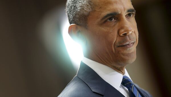 U.S. President Barack Obama delivers remarks on a nuclear deal with Iran at American University in Washington August 5, 2015 - Sputnik Italia