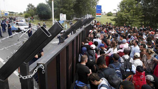 Migranti al confine serbo-ungherese - Sputnik Italia