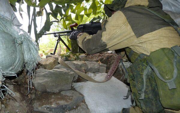 Un militare a Donetsk - Sputnik Italia