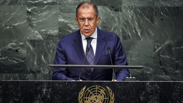 Il ministro degli esteri russo Sergey Lavrov all'Assemblea Generale ONU - Sputnik Italia