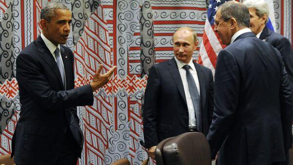 Il presidente degli USA Barack Obama e il presidente russo Vladimir Putin - Sputnik Italia