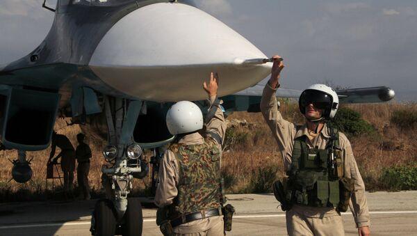 I piloti del Su-34 alla base di Hmeimim in Siria - Sputnik Italia