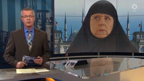 Angela Merkel in hijab - Sputnik Italia