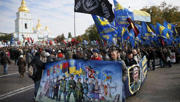Estrema destra ucraina a Kiev - Sputnik Italia