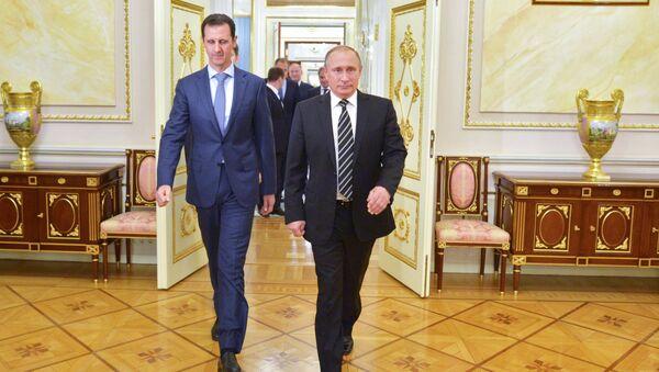 Vladimir Putin e Bashar Assad al Cremlino - Sputnik Italia