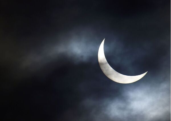 L'eclisse solare a Bridgewater. - Sputnik Italia