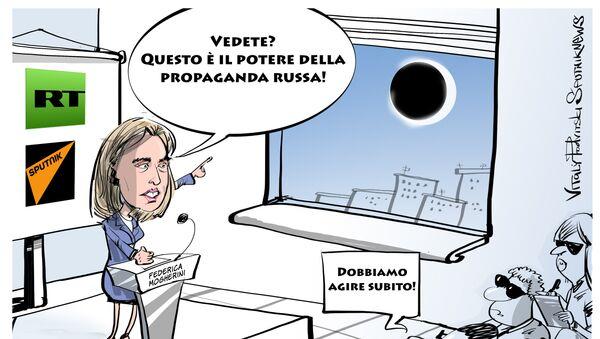 Federica Mogherini, caricatura - Sputnik Italia