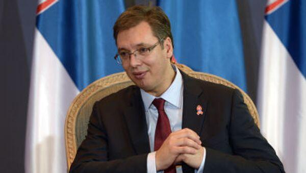 Primo ministro della Serbia Aleksandar Vucic - Sputnik Italia