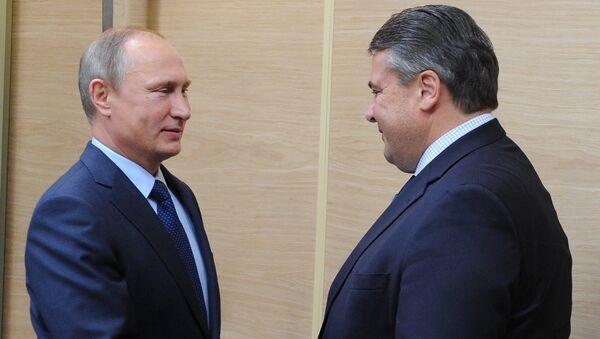 Incontro tra Vladimir Putin e Sigmar Gabriel - Sputnik Italia