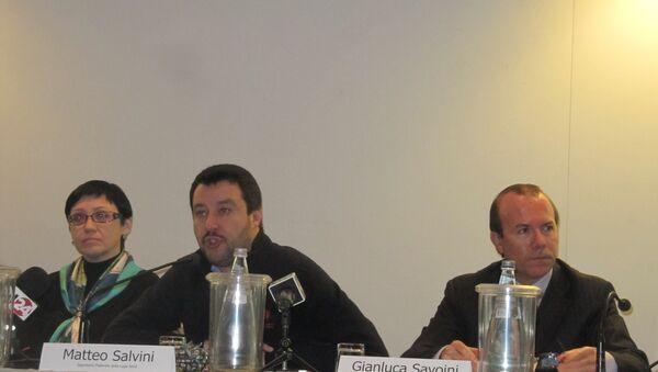 Matteo Salvini e Gianluca Savoini - Sputnik Italia