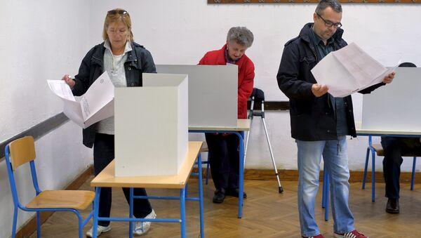Alle elezioni in Croazia. - Sputnik Italia