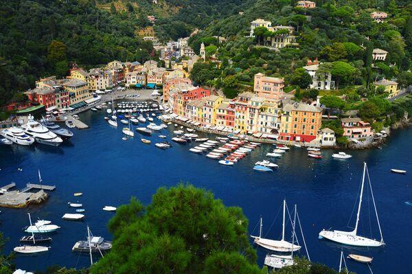 La veduta su Portofino, Liguria. Italia. - Sputnik Italia