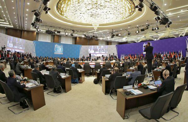 Il presidente russo Vladimir Putin al vertice G20 in Turchia. - Sputnik Italia