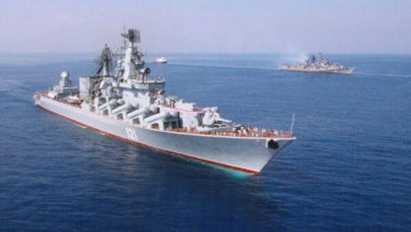 Гвардейский ракетный крейсер Черноморского флота Москва - Sputnik Italia
