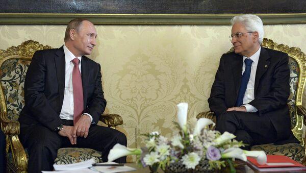 Vladimir Putin e Sergio Mattarella - Sputnik Italia