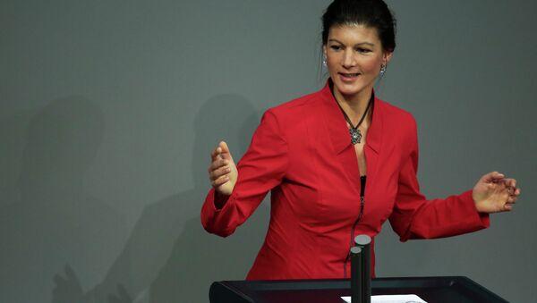 Sahra Wagenknecht, deputata tedesca del partito Linke - Sputnik Italia