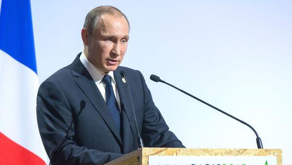 Президент России Владимир Путин выступает на открытии климатической конференции ООН в Париже, Франция - Sputnik Italia