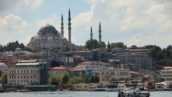View of the Blue Mosque across the Bosphorus, Istanbul - Sputnik Italia