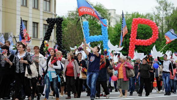 Celebrazioni della Giornata della Repubblica a Donetsk - Sputnik Italia