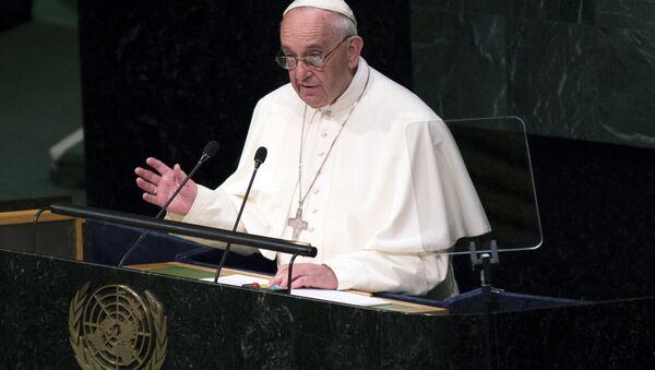 Papa Francesco alla conferenza ONU - Sputnik Italia