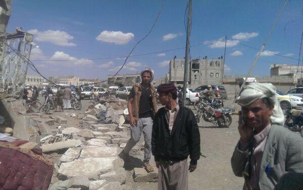 Yemen, le strade di Sanaa dopo un bombardamento - Sputnik Italia