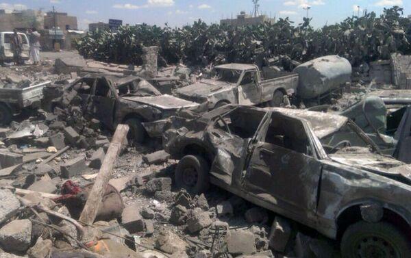 Un'immagine di San'a, capitale dello Yemen devastata dai bombardamenti - Sputnik Italia