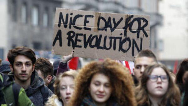 La manifestazione degli studenti a Milano - Sputnik Italia