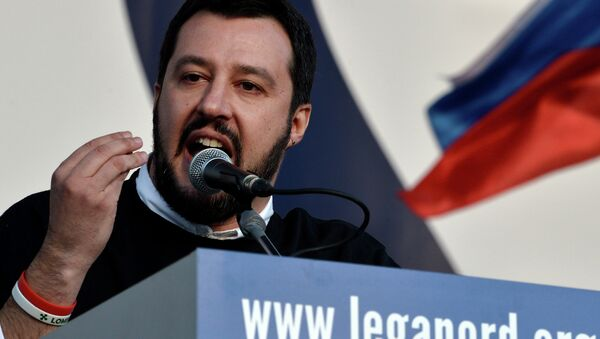 Il leader della Lega Nord Matteo Salvini - Sputnik Italia