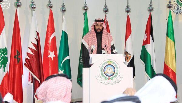 Saudi Deputy Crown Prince and Defence Minister Mohammed bin Salman speaks during a news conference in Riyadh - Sputnik Italia