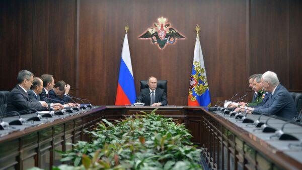 Putin al Consiglio di Sicurezza della Federazione Russa - Sputnik Italia