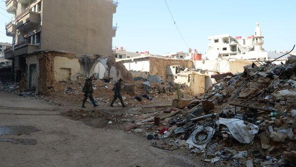 Sobborghi di Damasco dopo attacco missilistico - Sputnik Italia