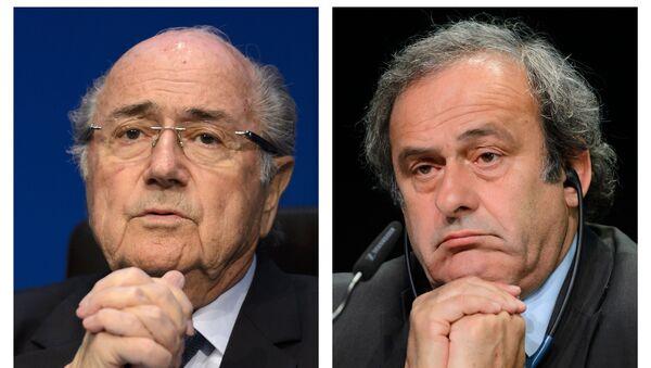 Sepp Blatter e Michel Platini - Sputnik Italia