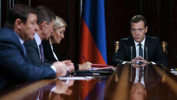 Riunione di governo presieduta da Dmitry Medvedev - Sputnik Italia