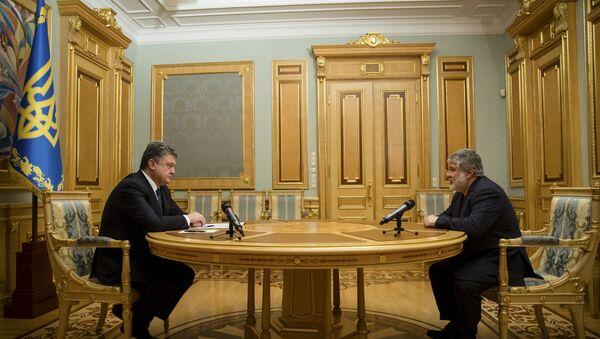 Petr Poroshenko ed Igor Kolomoysky - Sputnik Italia