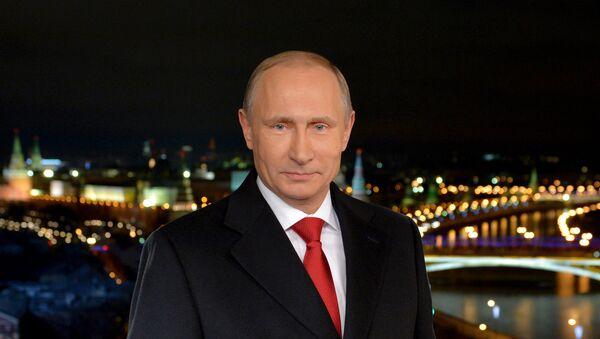 Il presidente Putin parla alla nazione allo scoccare della mezzanotte del 1° gennaio - Sputnik Italia