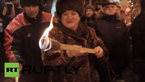 Marcia in onore di Stepan Bandera in Ucraina - Sputnik Italia