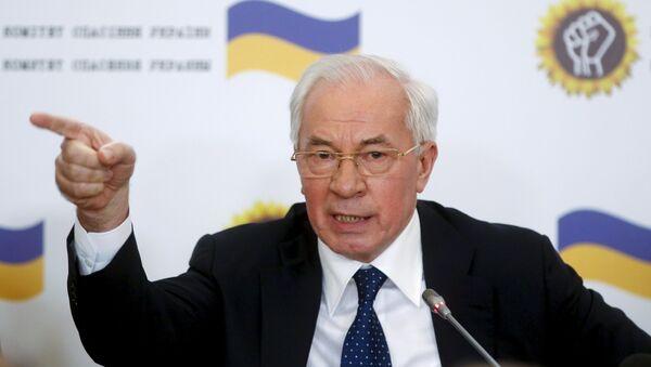 Бывший премьер-министр Украины Николай Азаров на пресс-конференции в Москве - Sputnik Italia