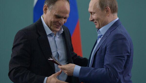 Vladimir Putin e Ezio Gamba - Sputnik Italia