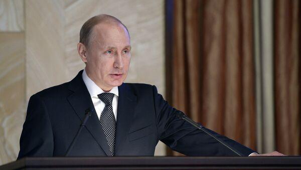 Президент России В.Путин принял участие в заседании коллегии ФСБ - Sputnik Italia
