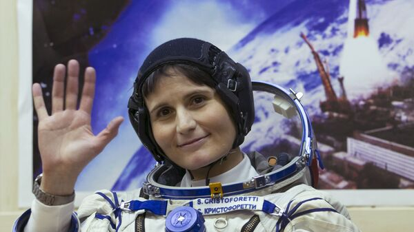 Samantha Cristoforetti prima della partenza alla Stazione Spaziale Internazionale - Sputnik Italia