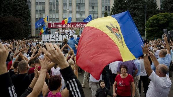 Proteste a Chisinau, Moldavia - Sputnik Italia