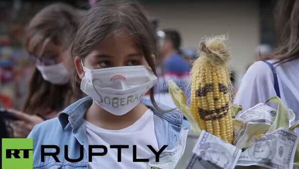 Proteste a Santiago contro l'adesione al TPP - Sputnik Italia